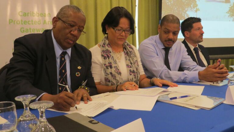 IUCN UWI siging ceremony