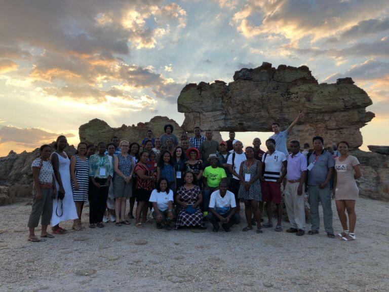 Group photo at Isalo